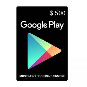 Google Play Gift Card $500_alpha Store Kuwait