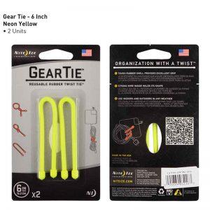 NiteIze GearTie Reusable Rubber Twist Tie 6 in YEL_alpha Store Online Shopping Kuwait