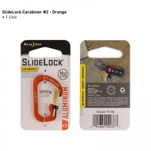 NiteIze SlideLock Carabiner Aluminum 2 Orange_alpha Store Online Shopping Kuwait
