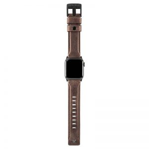 "UAG Apple Watch 44""/42"" Leather Strap- Brown"
