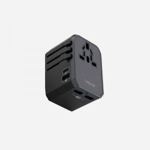 Momax 1- World PD + 3 USB AC Travel Adapter - Grey