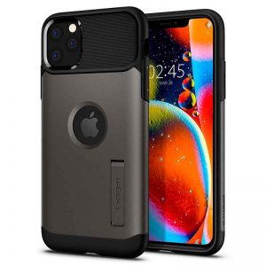 Spigen Slim Armor for iPhone 11 Pro Max (Gunmetal)_alpha Store Kuwait