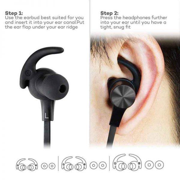 TaoTronics Wireless Stereo Earphones Black