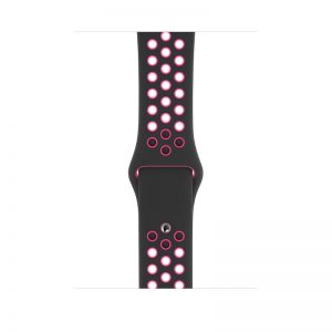 Apple 44mm Black:Pink Blast Nike Sport Band S:M & M:L - Black:Pink Blast_1_alpha store Online Shopping in kuwait