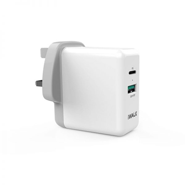 IWALK POWER ADAPTER POWER DELIVERY & QC 3.0 WHITE