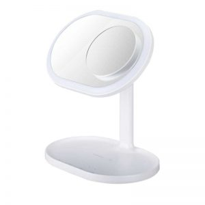 Momax Q.LED Mirror wireless charging & Speaker White