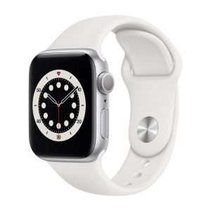 Apple_Watch_Series_6_GPS_40mm_Silver_Aluminum_White_Sport_Band_34R_Screen__USEN