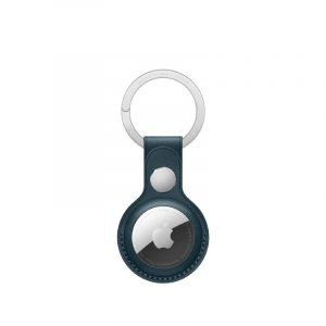 AirTag Leather Key Ring Baltic Blue-kuwait