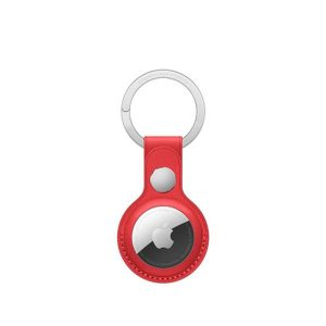 Wiwu Leather Key Ring Case For Apple Airtag -Red