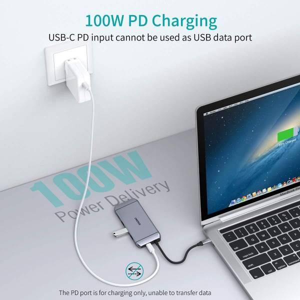 Choetech 9 in 1 USB C HUB - Silver
