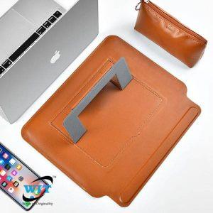Wiwu Skin Pro Slim Stand Sleeve For Macbook Air 13 And Macbook Pro 13 - Brown