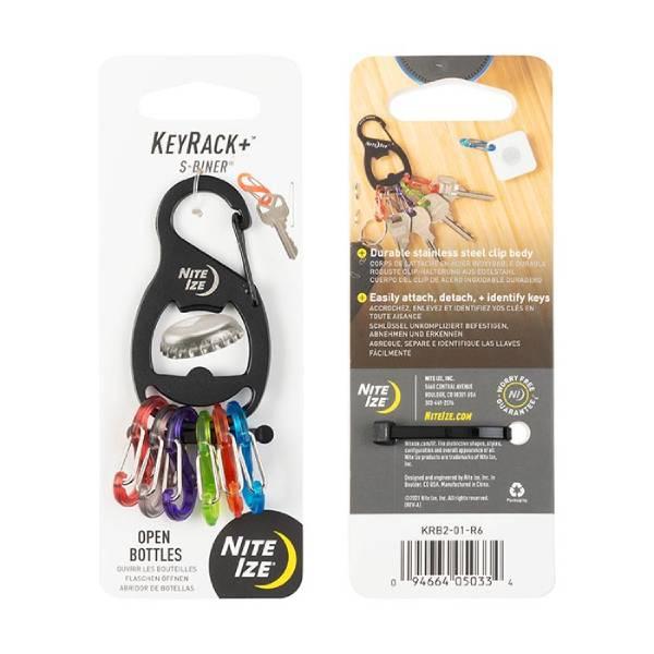 NiteIze KeyRack+™ S-Biner® - Black