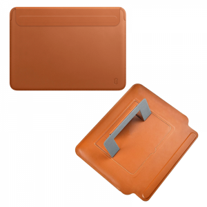 Wiwu Skin Pro Slim Stand Sleeve For Macbook Pro 16 - Brown