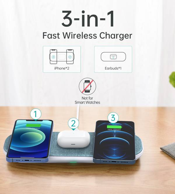 Choetech Magnetic 3 in 1 charger - Green