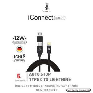 Smart Auto stop Type C To lightning cable 5FT 12W