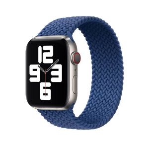 Wiwu Braided Watch Band For Apple Watch Series Se / 6 / 5 / 4 Lenth 155Mm -Blue