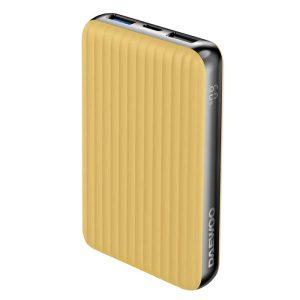 DAEWOO Power bank 10,000mAh 18W PD and QC,LED Display - Yellow