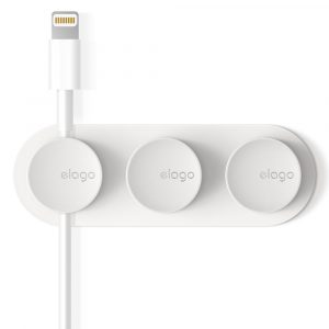 Elago Magnetic Cable Management Buttons (White)