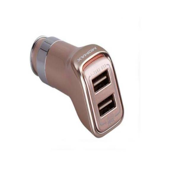 MOMAX USB Car Charger-Top series -Champagne