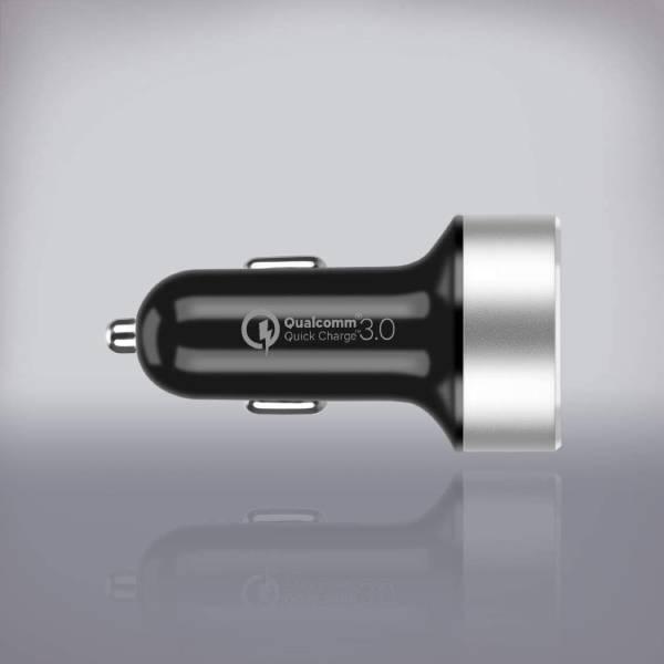 Momax Dual-Port USB Fast Car Charger Black
