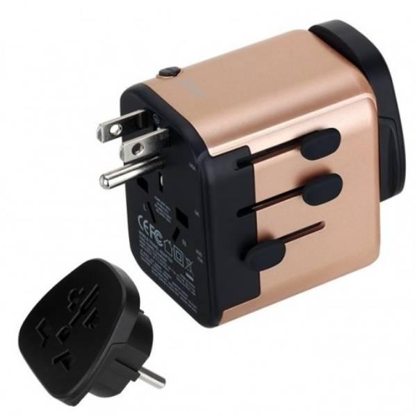 MOMAX 1 World Type C PD&3USB AC Travel Adapter GLD