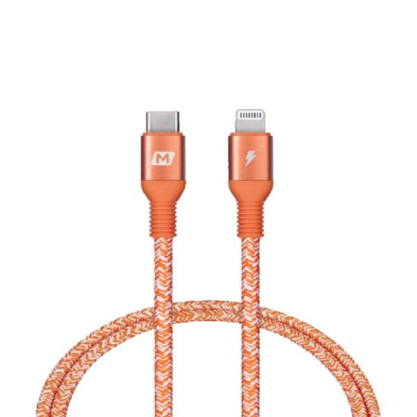 Momax Elite link Lightning to USB-C Cable-0.3m RED